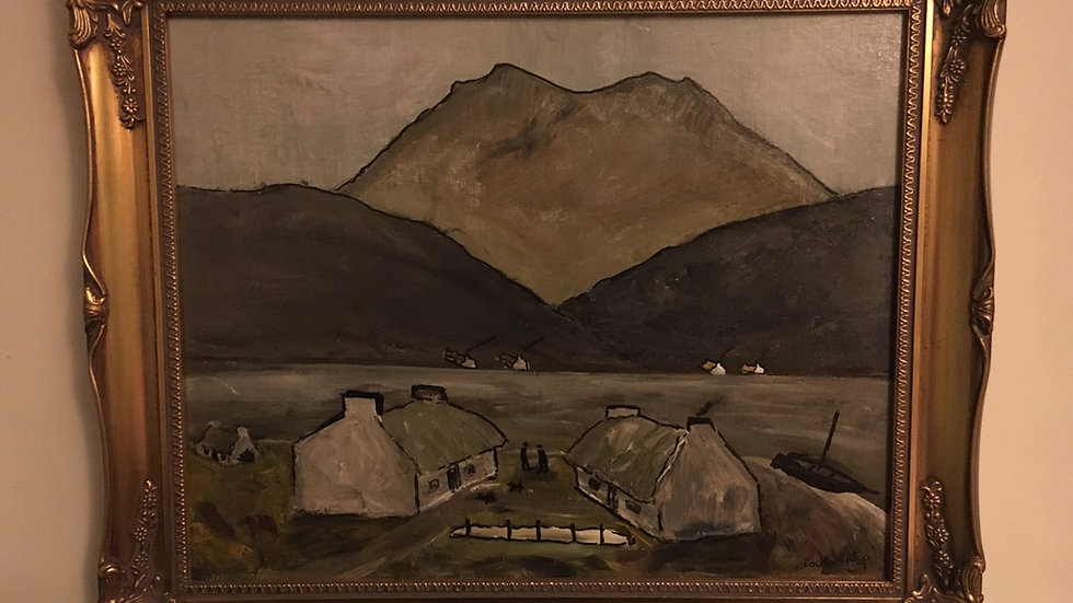 SOLD Connemara Cotages original acrylic approx 50x60cms  by Lockyer Alsop