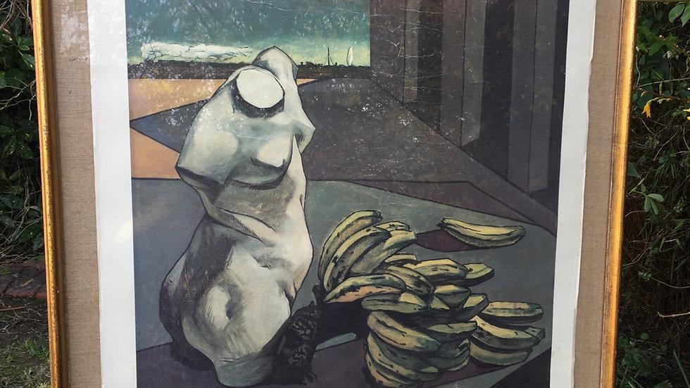 Original Tate Gallery 1985 exhibition poster Giorgio de Chirico