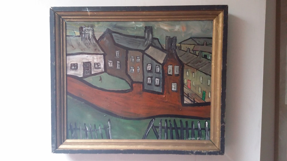 Houses with a Red Wall by Lockyer Alsop