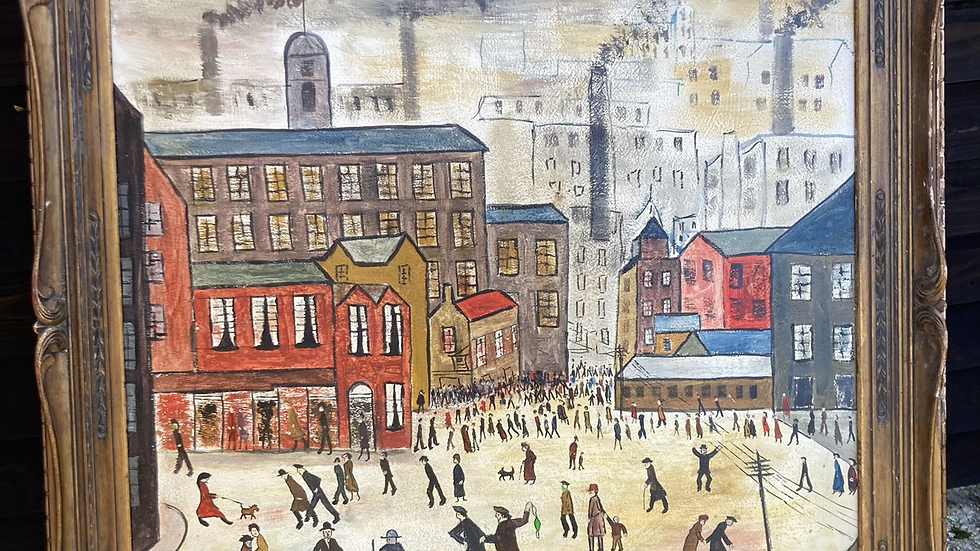 Our Town After Covid acrylic painting by Lockyer Alsop