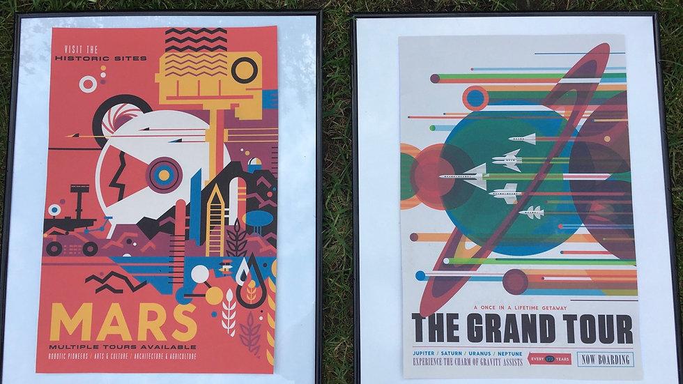 Pair of Original Nasa Artwork prints