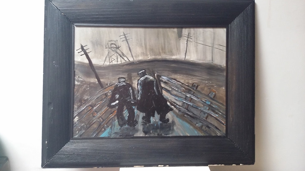 Miners going to work after Norman Cornish by Lockyer Alsop