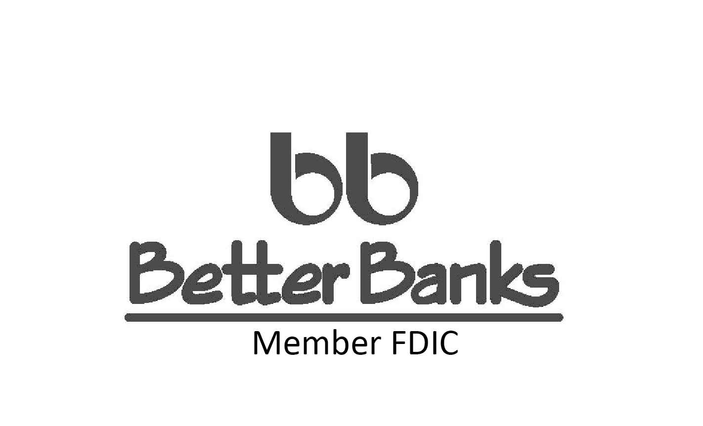 Better Banks Black Logo Vertical