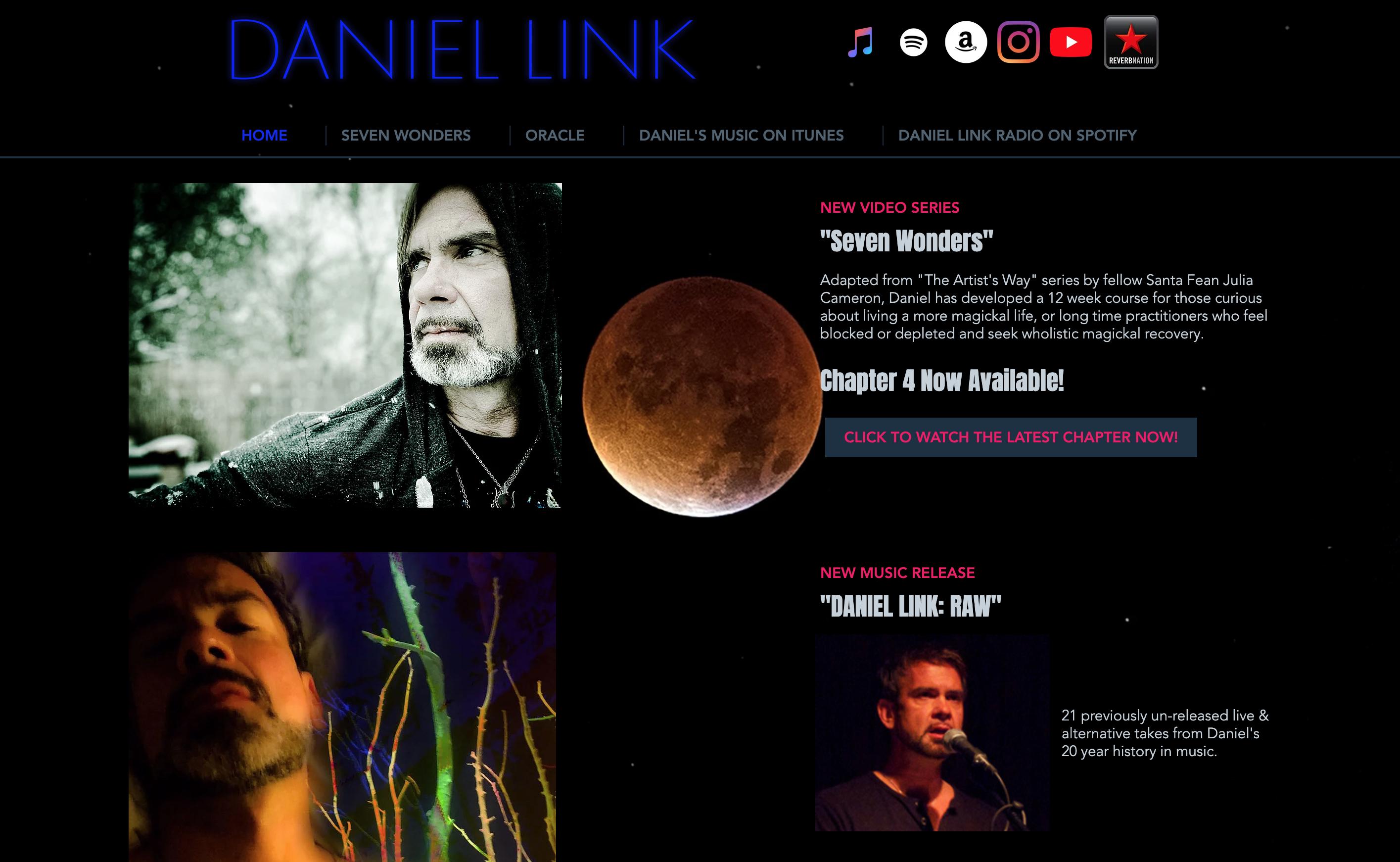 DanielLink.com, redesign, 2020