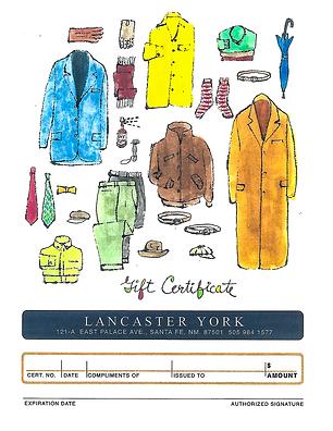 Lancaster York Gift Certificate