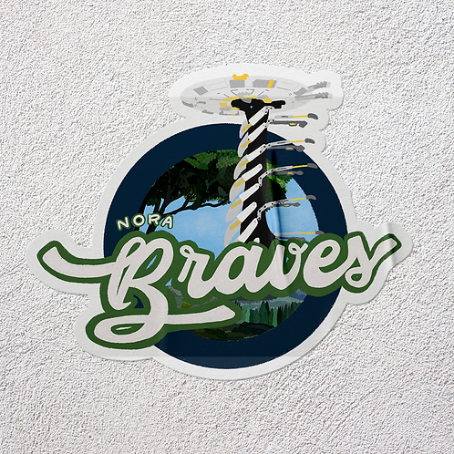 Nora Braves Sticker