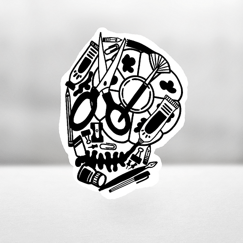 'Til Death We Do Art Sticker