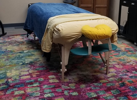 I have one of my rugs. My room is coming together.