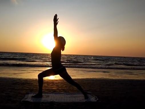 Yoga al fresquito en Agosto