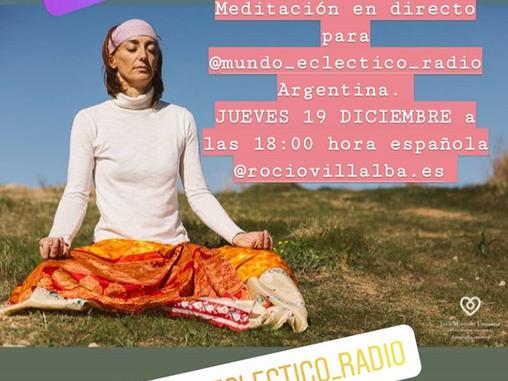 Meditación en directo con Argentina