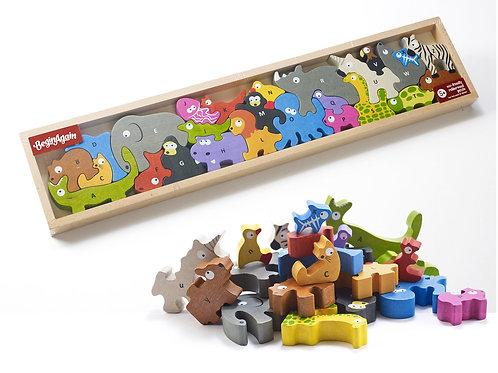 Animal Parade A to Z Puzzle BeginAgain