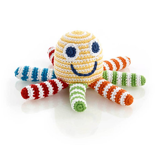 Rainbow Octopus Rattle (Pebble)