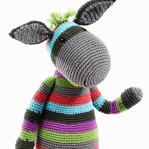Large Stripey Donkey- Pebble