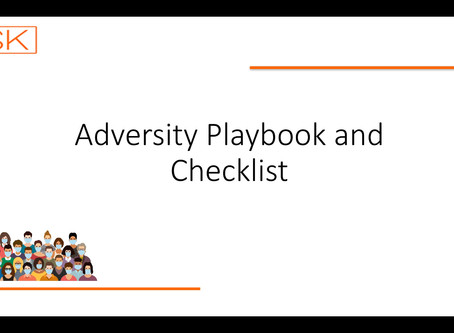 'Sneak Preview' of the Adversity Playbook and Checklist