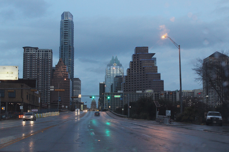 Rainy Downtown Austin | Meghan Stark
