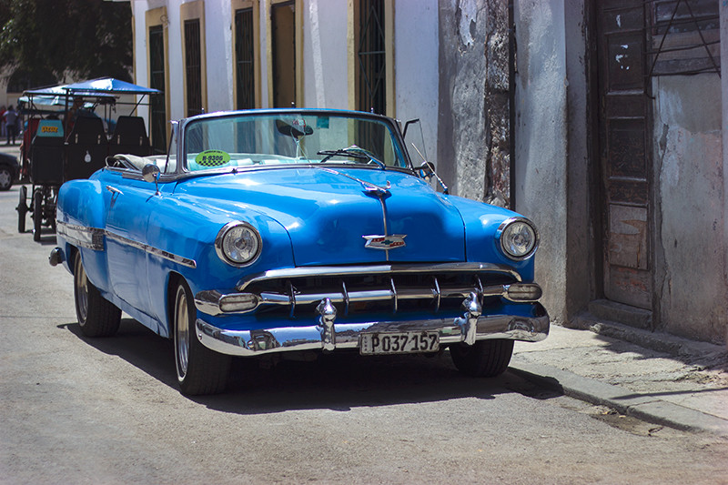 Vintage Blue Chevrolet - Meghan Stark