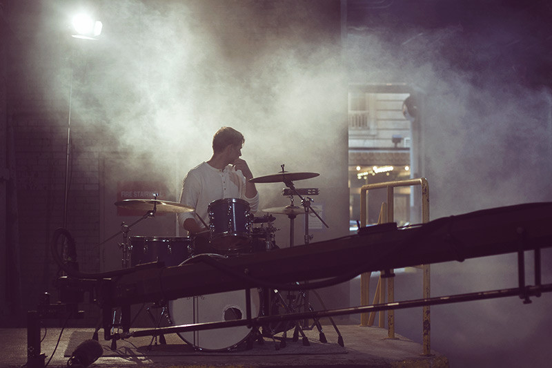 Will Rose drumming for Abby Jeanne | Meghan Stark