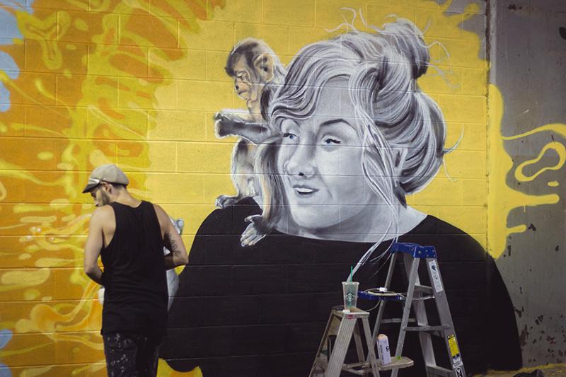 Abby Jeanne mural in progress | Meghan Stark
