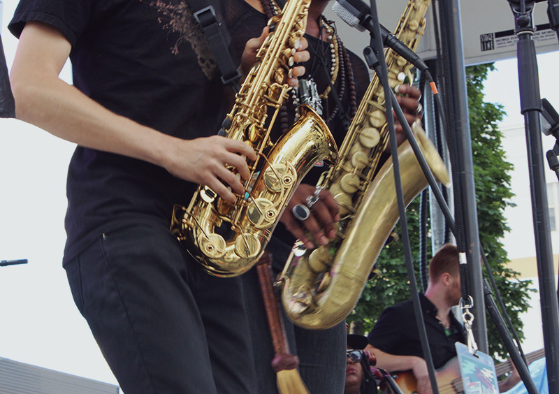D'Amato Saxophone Milwaukee 88.9 Block Party | Meghan Stark