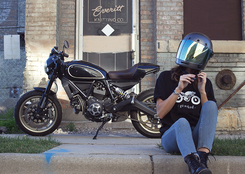 Go Naked black motorcycle tee shirt by Great Lake Supply Co. Milwaukee