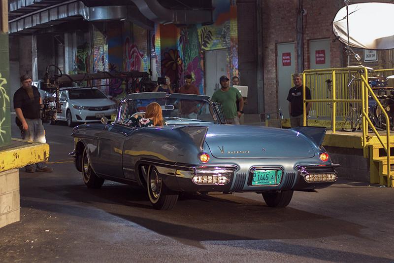Abby Jeanne Behind the Scenes - Vintage Car | Meghan Stark