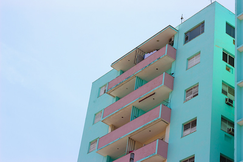 Pink and Teal Apartments - Meghan Stark