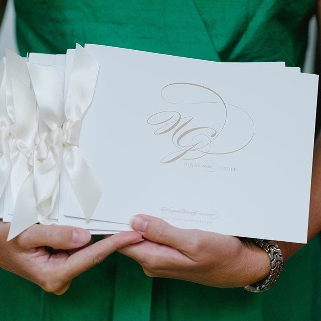 Have a lot of information to share with your guests_ How about a booklet style wedding program tied