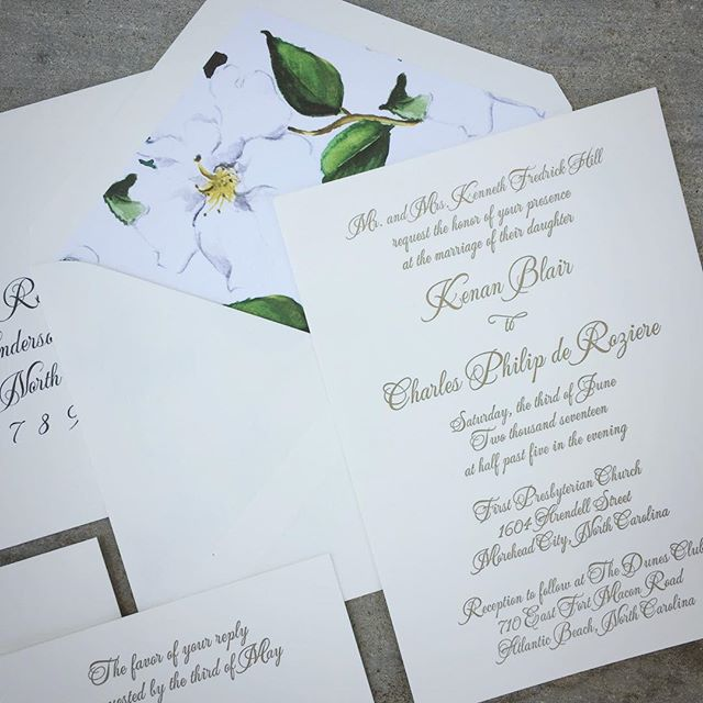 Happy wedding day to Kenan and Chas! _erinmcleanevents #magnolia #sealeddesignstudio #letterpress