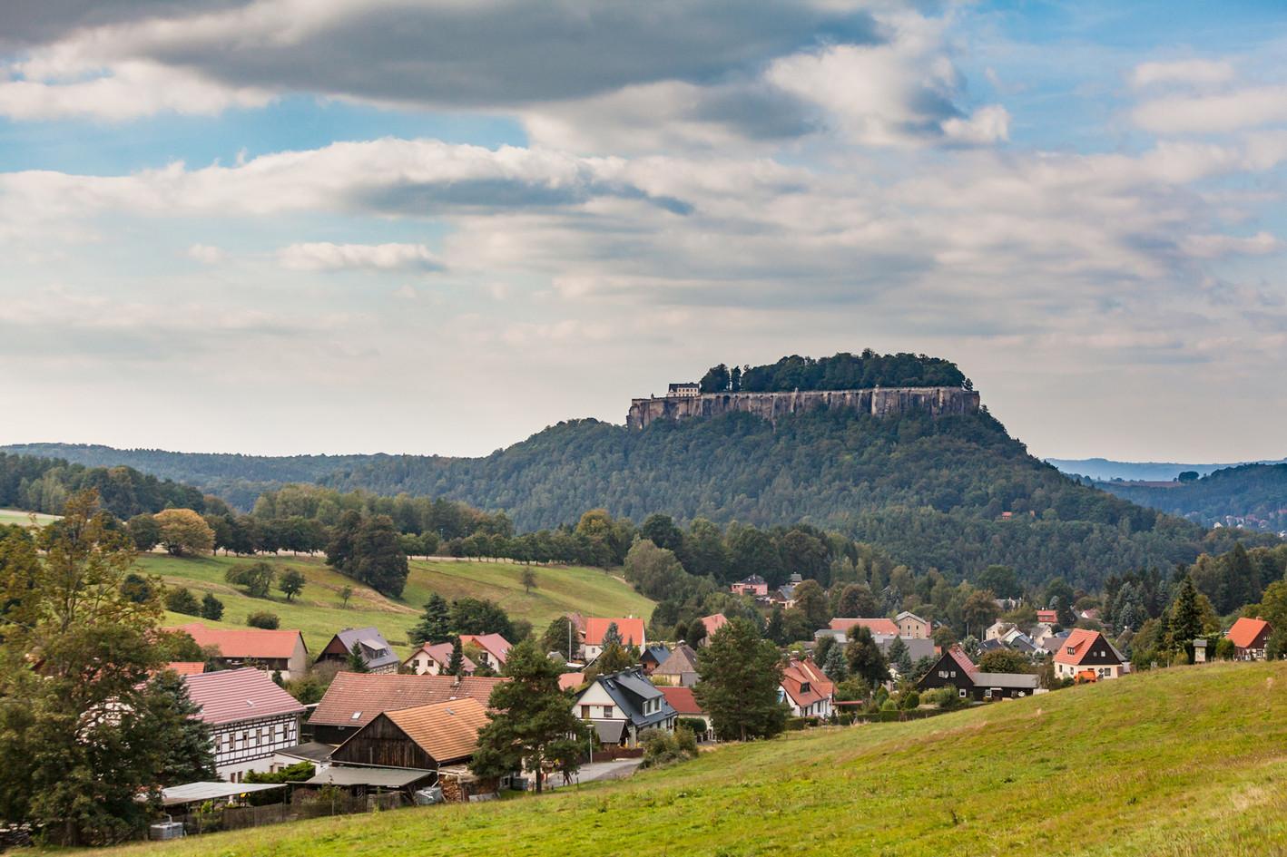 Pfaffendorf mit Blick auf den Königstein