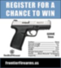 win a free handgun at Frontier Firearms