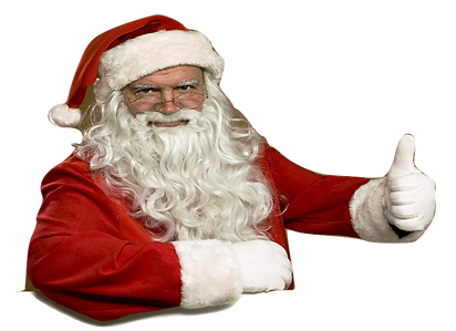 Santa is thumbs up for Frontier Gift Certificates