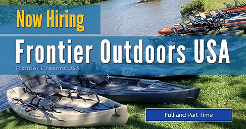 Frontier Outdoors USA is Now Hiriing