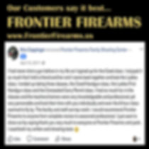 Another happy customer at Frontier Firearms