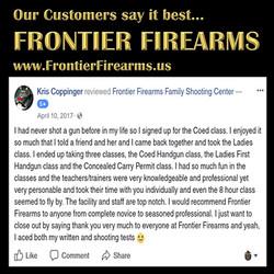 Frontier Firearms customers say it best