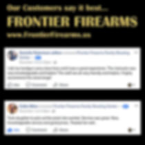 Read what Frontier Firearms' customer say