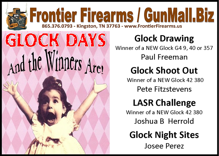 Big winners at Frontier Firearms in Kingston TN