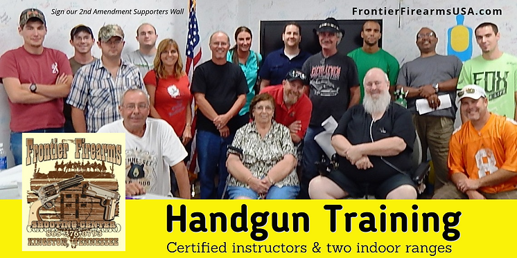 GUN CLASSES AT FRONTIER FIREARMS USA
