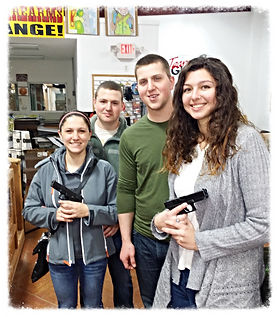 Coed handgun class at Frontier Firearms Family Shooting Center near Knoxville TN.