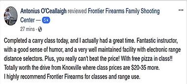 Our students love their classes at Frontier Firearms