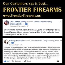 Customer love Frontier Firearms