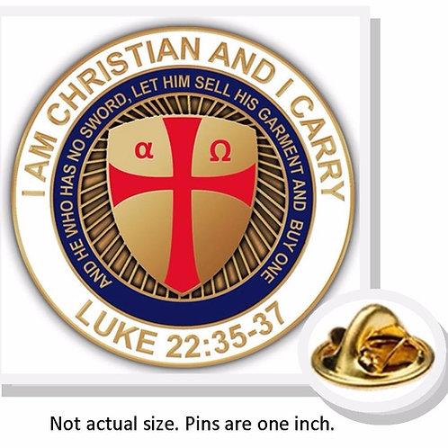 """Alpha Omega """"I Am Christian and I Carry"""" Luke 22:35-37"""