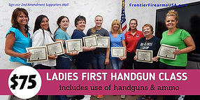 LADIES FIRST Classes at Frontier Firearms USA