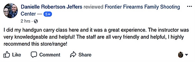 Great experience at Frontier Firearms
