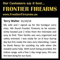 The Best HCP Class at Frontier Firearms