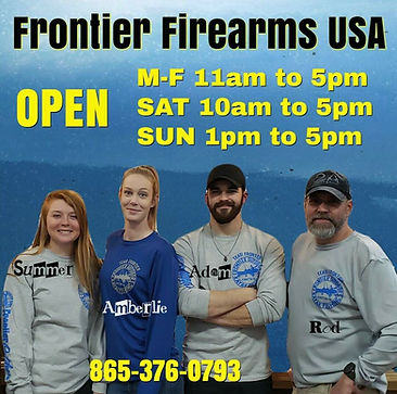Frontier Firearms USA Hours