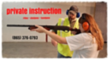 Sign up for private firearm instruction at Frontier Firearms Family Shooting Center in Kingston near Knoxville, TN.