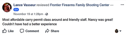 Great class prices at Frontier Firearms