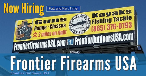 Now Hiring at Frontier Firearms USA
