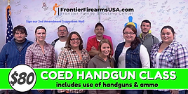 COED CLASS at FRONTIER FIREARMS
