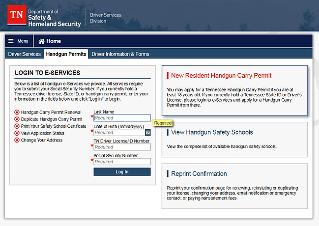 Complete your Carry Permit Application On-Line